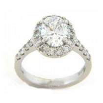 AFS-0114 Vintage Diamond Engagement Ring with Halo