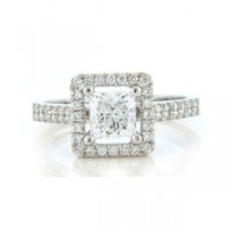AFS-0119 Vintage Diamond Engagement Ring with Halo