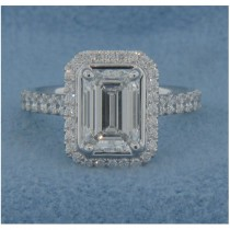 AFS-0156 Vintage Diamond Engagement Ring with Halo