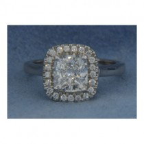 AFS-0165 Vintage Diamond Engagement Ring with Halo
