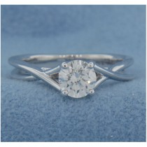 AFS-0175 Solitaire Twisted Engagement Ring