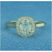 AFS-0194 Vintage Diamond Engagement Ring with Halo
