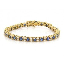 BR923 Diamond and Sapphire Bracelet