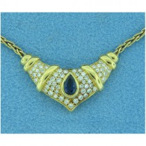 CH538 Diamond and Sapphire Necklace