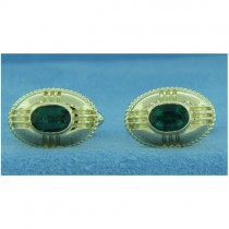 CF0001 Men's Emerald Cufflinks