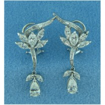 E1007 Diamond Drop Earrings