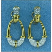 E1080 Diamond Drop Earrings