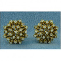 E1086 Diamond Button Earrings