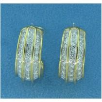 E1162 Diamond Hoop Earrings