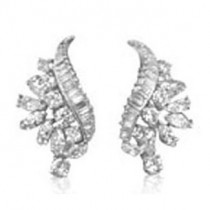 E1190 Diamond Cluster Earrings