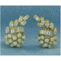 E1191 Diamond Cluster Earrings