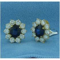 E1208 Diamond and Sapphire Earrings