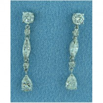 E1223 Diamond Drop Earrings