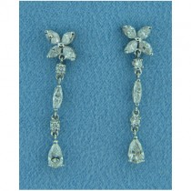 E1232 Diamond Drop Earrings