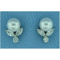 E1234 Diamond and Pearl Earrings