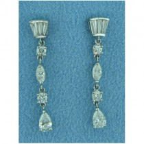 E1235 Diamond Drop Earrings