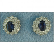 E1245 Diamond and Sapphire Earrings