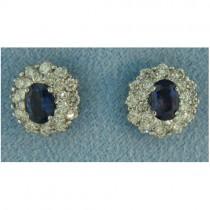 E1245 Diamond and Sapphire Earrings