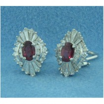 E1248 Diamond and Ruby Earrings