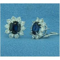 E1253 Diamond and Sapphire Earrings