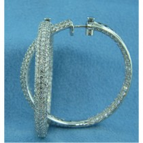 E1256 Diamond Hoop Earrings