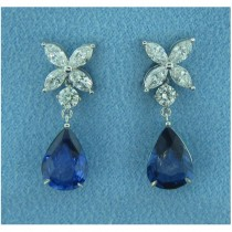 E1270 Diamond and Sapphire Earrings