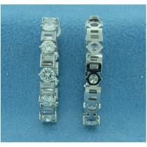 E1271 Diamond Hoop Earrings