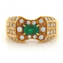 FS3341 Diamond and Emerald Ring