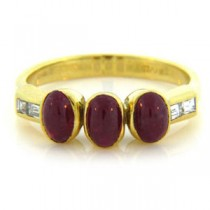 FS3372 Diamond and Ruby Ring