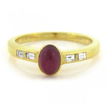 FS3379 Diamond and Ruby Ring