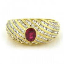 FS3502 Diamond and Ruby Ring