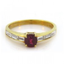 FS3514 Diamond and Ruby Ring