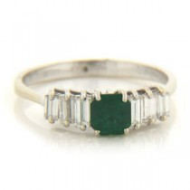 FS3544 Diamond and Emerald Ring