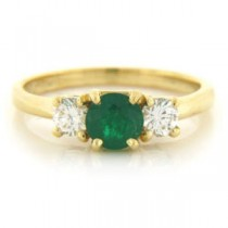 FS3561 Diamond and Emerald Ring