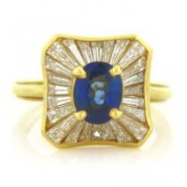 FS3602 Diamond and Sapphire Ring