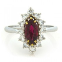 FS3718 Diamond and Ruby Ring