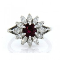 FS3727 Diamond and Ruby Ring