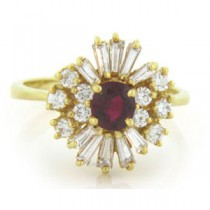 FS3728 Diamond and Ruby Ring