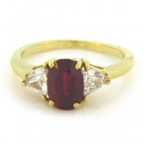 FS3735 Diamond and Ruby Ring