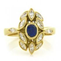 FS3798 Diamond and Sapphire Ring