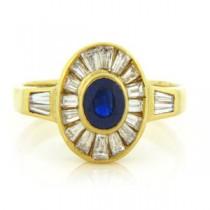 FS3804 Diamond and Sapphire Ring