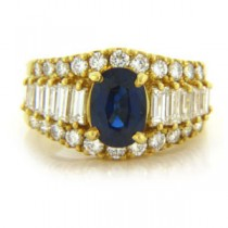 FS3806 Diamond and Sapphire Ring