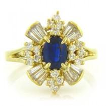 FS3808 Diamond and Sapphire Ring