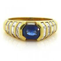 FS3811 Diamond and Sapphire Ring