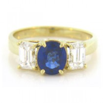 FS3814 Diamond and Sapphire Ring
