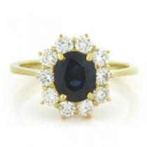 FS3838 Diamond and Sapphire Ring