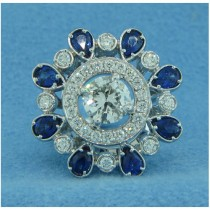 FS3985 Diamond and Sapphire Ring