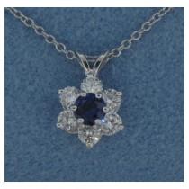 P1433 Diamond and Sapphire Pendant