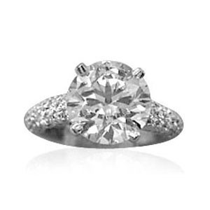 AFS-0044 Diamond Engagement Ring