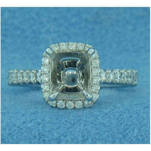 AFS-0080 Vintage Diamond Engagement Ring with Halo